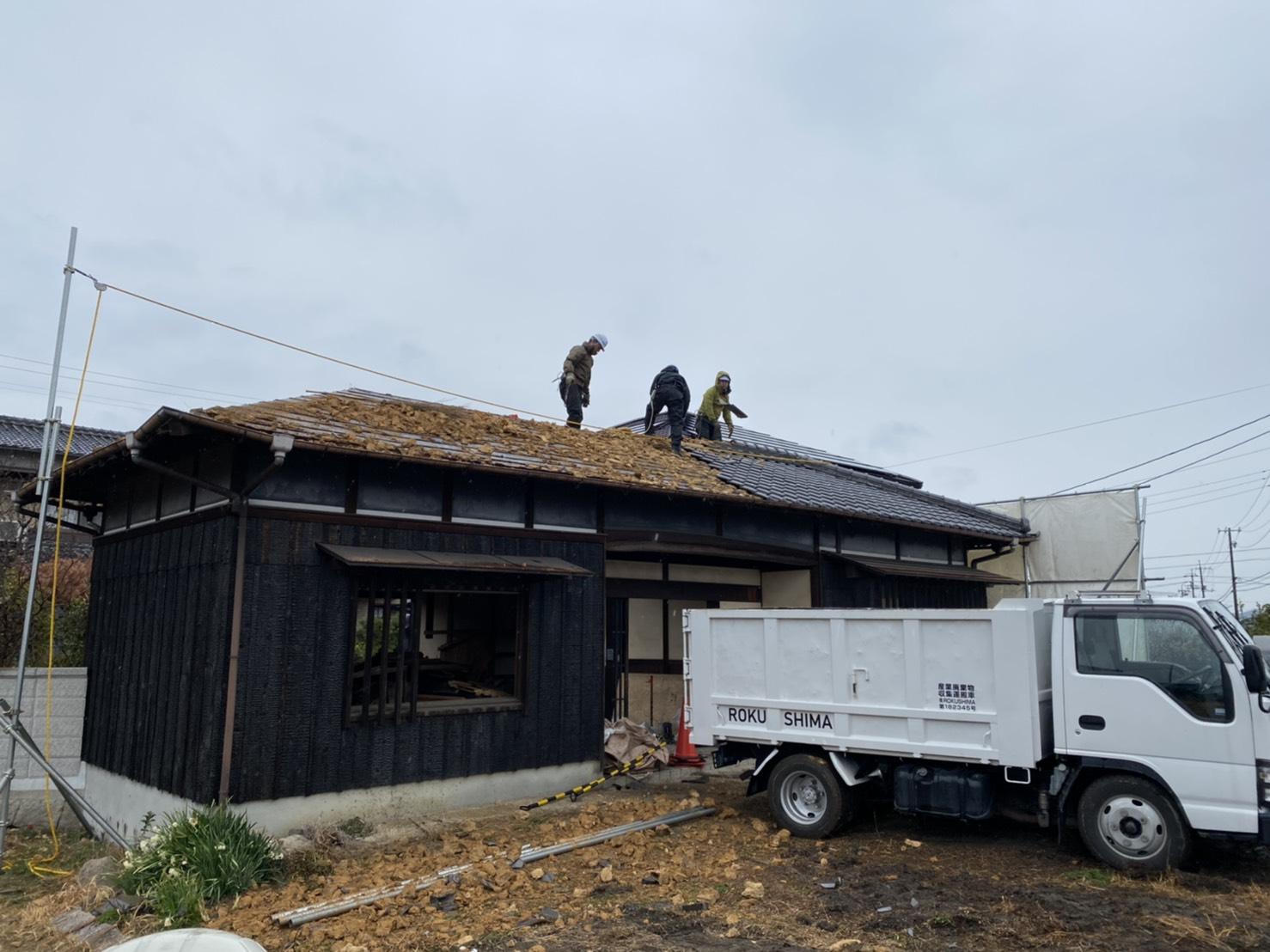 岡山市K様邸 工事の様子です。